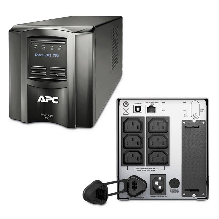 ИБП (UPS) линейно-интерактивный APC Smart-UPS 750VA LCD (SMT750I)