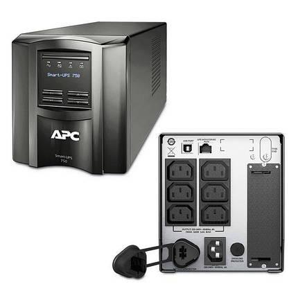 ИБП (UPS) линейно-интерактивный APC Smart-UPS 750VA LCD (SMT750I), фото 2