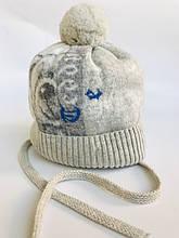 Детская шапка для мальчика JAMIKS Польша GUSTAW серая
