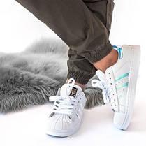 Женские кроссовки Adidas Superstar (реплика), фото 2