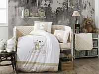 Детская постель в кроватку 100х150 HOBBY поплин Bonita бежевый