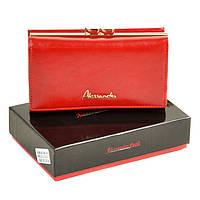 Кошелек Canarie женский  кожаный Alessandro Paoli. Красный кошелек из натуральной кожи. Модный