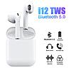 Бездротові сенсорні Bluetooth навушники i12 5.0 з кейсом Білі, фото 4