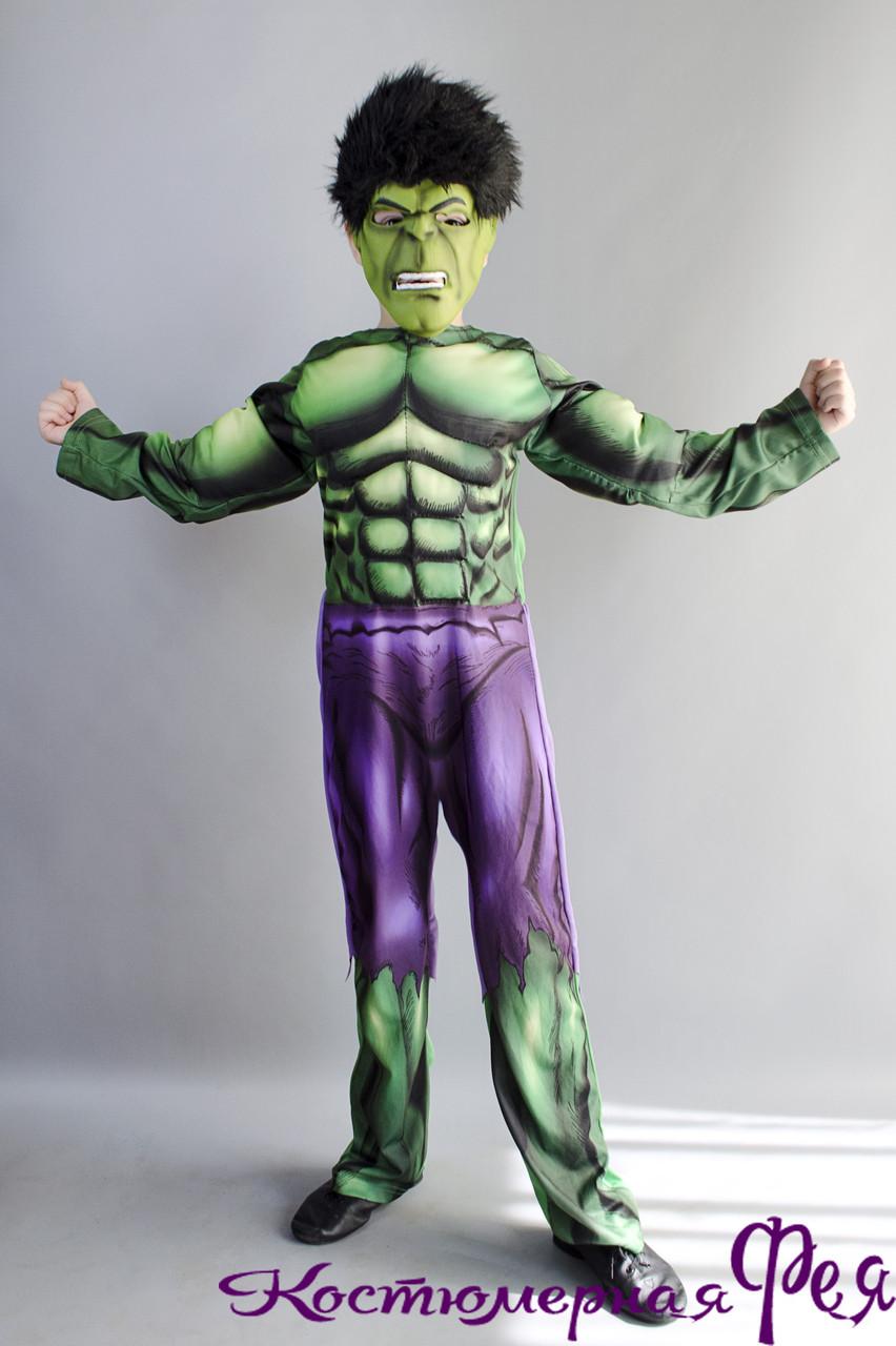 Халк, детский карнавальный костюм (ПРОКАТ)