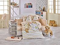 Детская постель в кроватку 100х150 HOBBY поплин Snowball бежевый