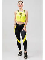 Костюм женский для фитнеса Go Fitness black-yellow