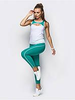 Костюм женский для фитнеса Go Fitness white-green