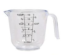 Мерный стакан пластиковый с ручкой Benson BN-1018 (300 мл) | мерная чаша | мерная посуда | мерная емкость