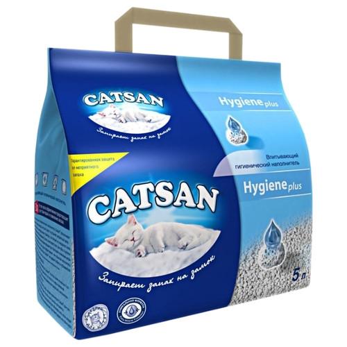 Наполнитель туалетов для кошек Catsan Hygiene plus 5 л