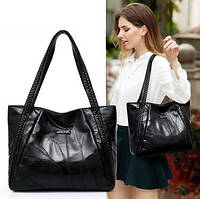 Новинка 2020 года! Модная черная кожаная сумка для женщин, с оригинальным дизайном.