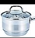 Ковш с крышкой из нержавеющей стали Benson BN-227 (1 л)   сотейник   ковшик Бенсон   набор посуды, фото 7