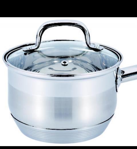 Ковш с крышкой из нержавеющей стали Benson BN-229 (1.8 л)   сотейник   ковшик Бенсон   набор посуды