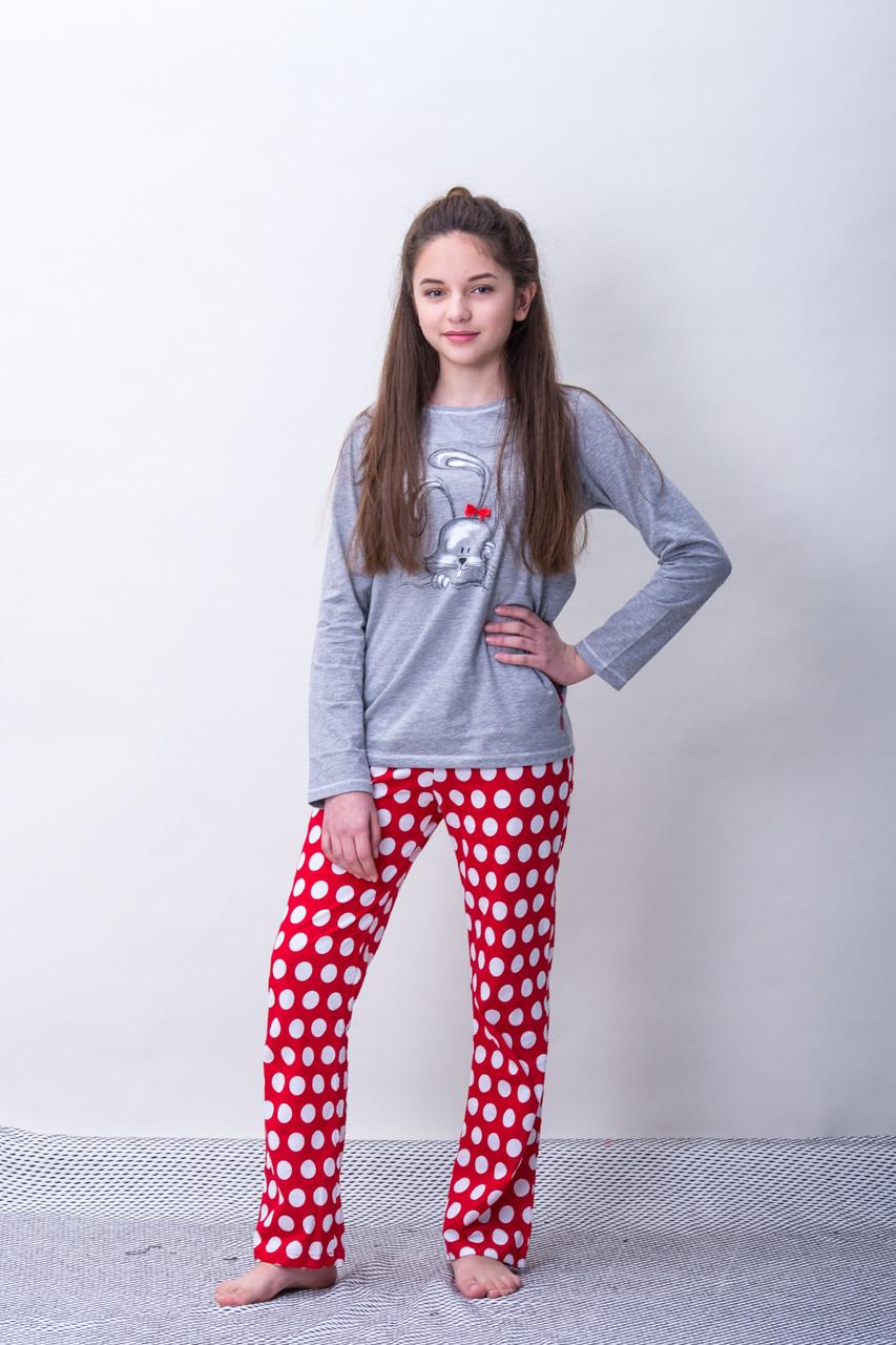 Детская пижама для девочки CORNETTE Польша HELLO , серая
