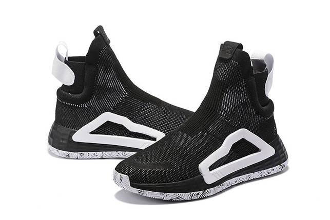 Кроссовки Мужские Adidas N3XT L3V3L BLACK/WHITE, фото 2