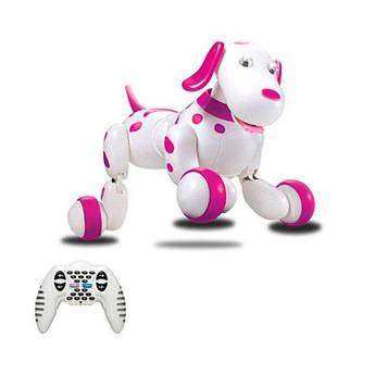 Интерактивная Робот-собака на радиоуправлении р/у HappyCow Smart Dog (розовый) +ПОДАРОК