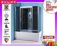 Гиромассажная душевая кабина с ванной 150х83 см Keramac ТМ-705 (GR)