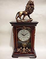 Часы настольные каминные Лев (50х11 см) Onix [Дерево, Металл, Пластик, Стекло, Керамика]
