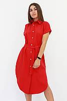 S, M, L / Зручне жіноче плаття-сорочка Sandy, червоний