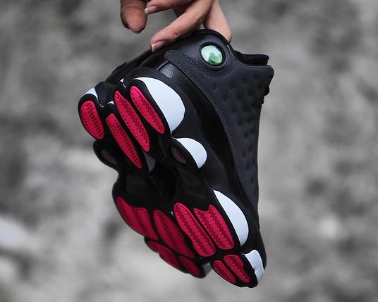 """Кроссовки Женские JORDAN 13 RETRO Black Carbon Grey (GS """"Hyper Pink""""), фото 2"""
