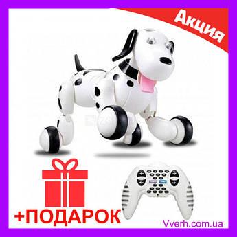 Интерактивная Робот-собака на радиоуправлении HappyCow Smart Dog (29 см, чёрный) р/у HC-777-338b