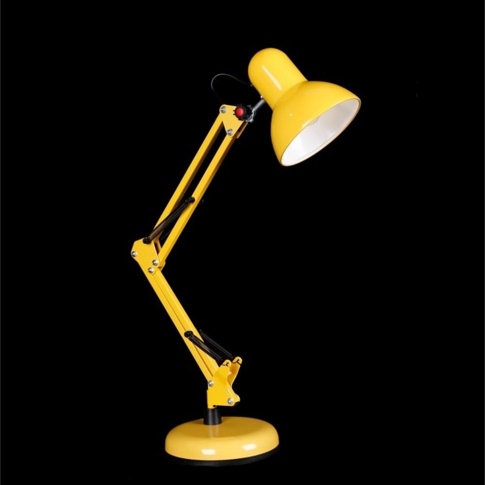 Настольная лампа желтого цвета под лампочку E27 СветМира VL-N922 (YL)