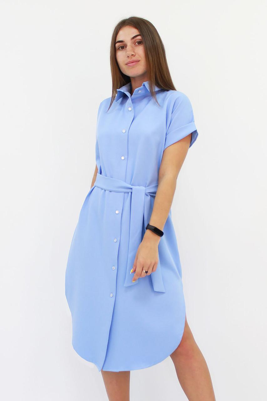 S, M, L | Зручне жіноче плаття-сорочка Sandy, блакитний