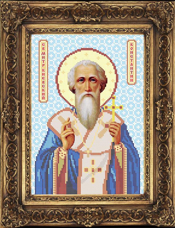 Схема для вышивки бисером иконы - Константин Святой Равноапостольный (ИБ4-061-W) - Распродажа