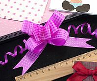 (10шт) Подарочные бантики 39х2см (13х10см в собранном виде) бант-затяжка Цвет - Фуксия, фото 1