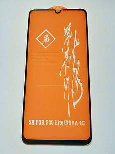 Защитное стекло 6D для Huawei P30 Lite Full Glue Черное