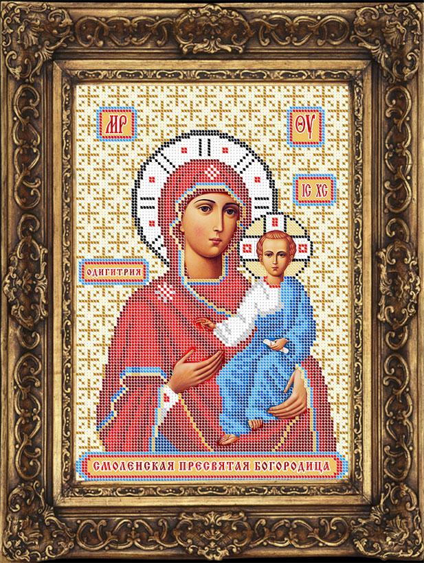 Схема для вышивки бисером иконы - Смоленская Пресвятая Богородица (ИБ4-084-W) - Распродажа