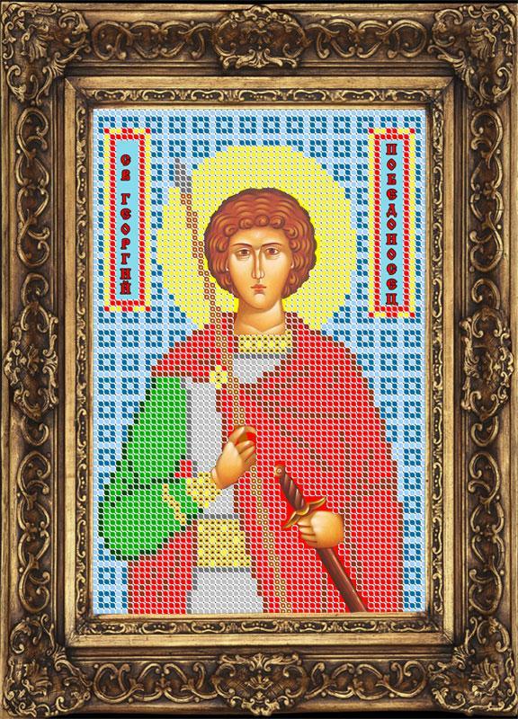 Схема для вышивки бисером иконы - Георгий Победоносец Св. Великомученик (ИБ5-019-W) - Распродажа