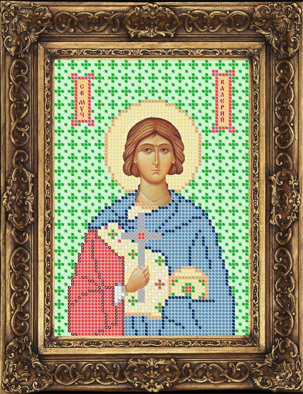 Схема для вышивки бисером иконы - Валерий Святой Мученик (ИБ5-049-W) - Распродажа
