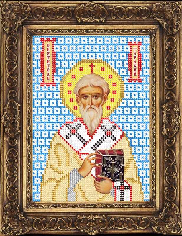 Схема для вышивки бисером иконы - Тарасий (Тарас) Святитель Патриарх Константинопольский (ИБ5-080-W) -
