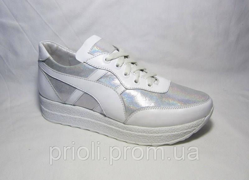 Распродажа 37 размер женские кроссовки белые кожа