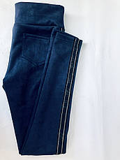Замшевые лосины (42-48) № 78 синий., фото 3