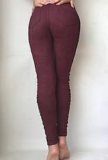 Замшевые лосины (42-48) № 78 бордовый, фото 2