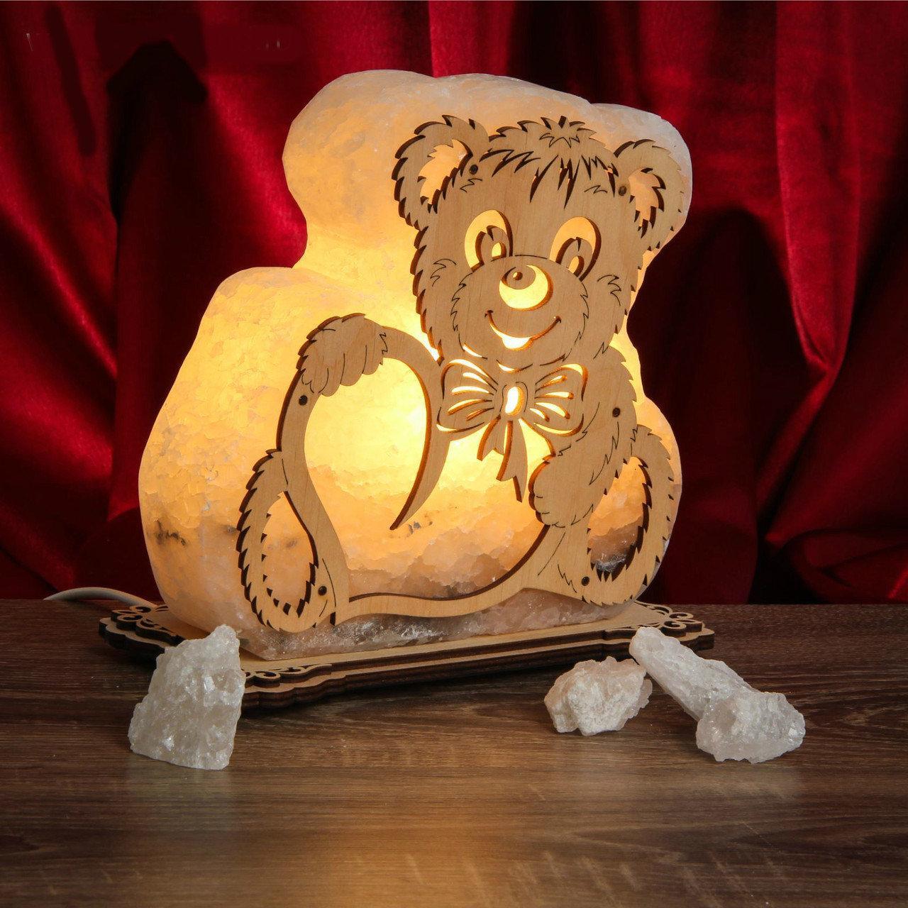 """Соляная лампа светильник """"Мишка маленький"""""""