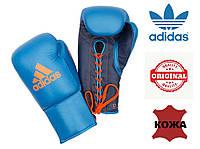 Профессиональные перчатки Glory Adidas на шнурках (ADIBCM06, синие), фото 1