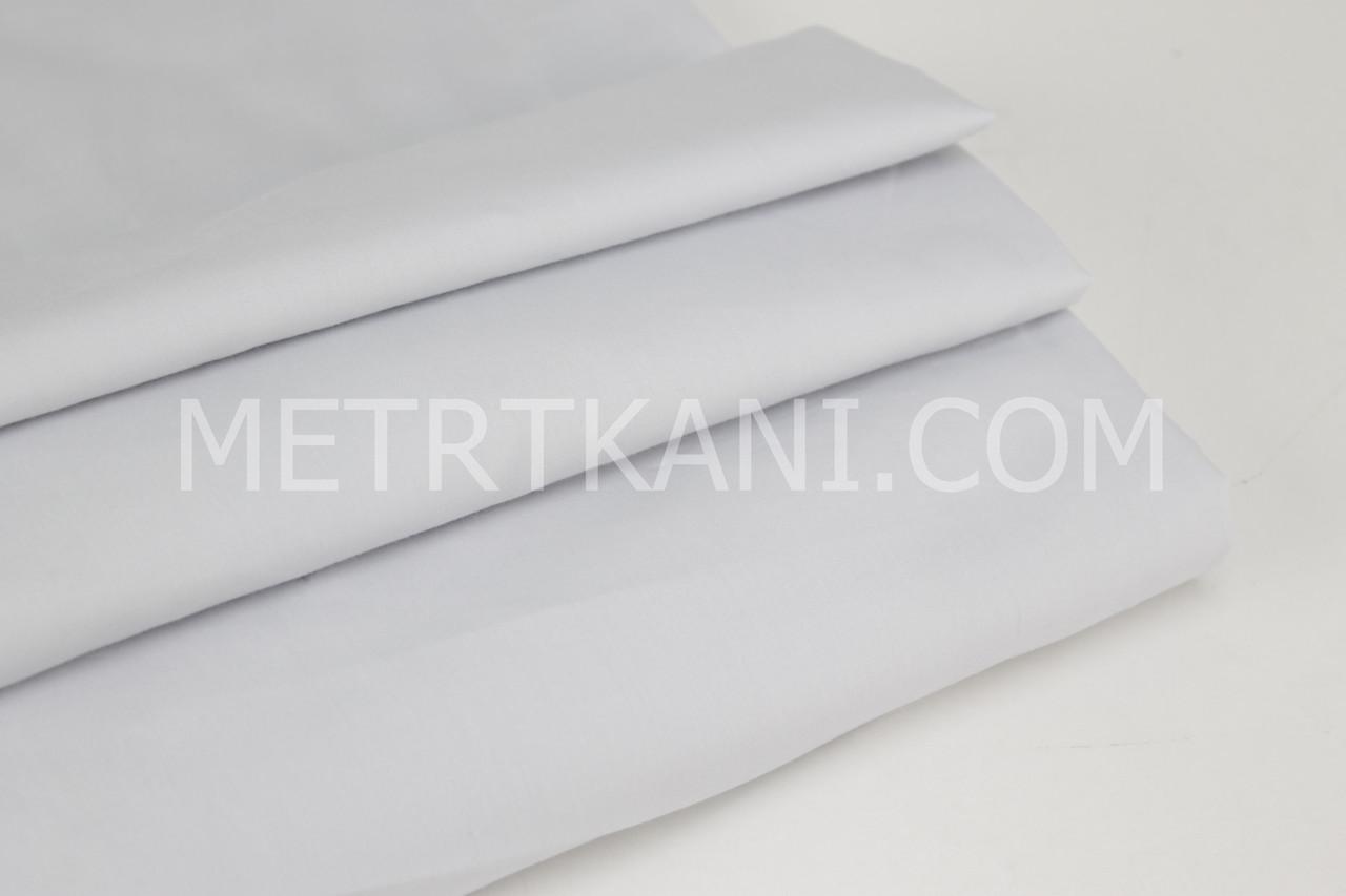 Ткань однотонная хлопковая Mist светло-серого цвета № 074