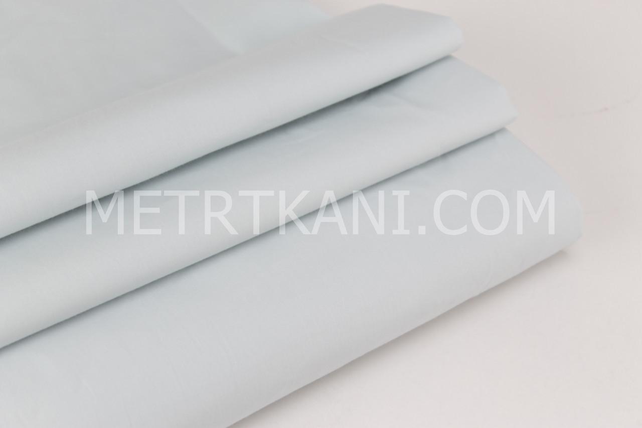 Ткань однотонная хлопковая Mist пепельно-голубого цвета цвета № 12-10
