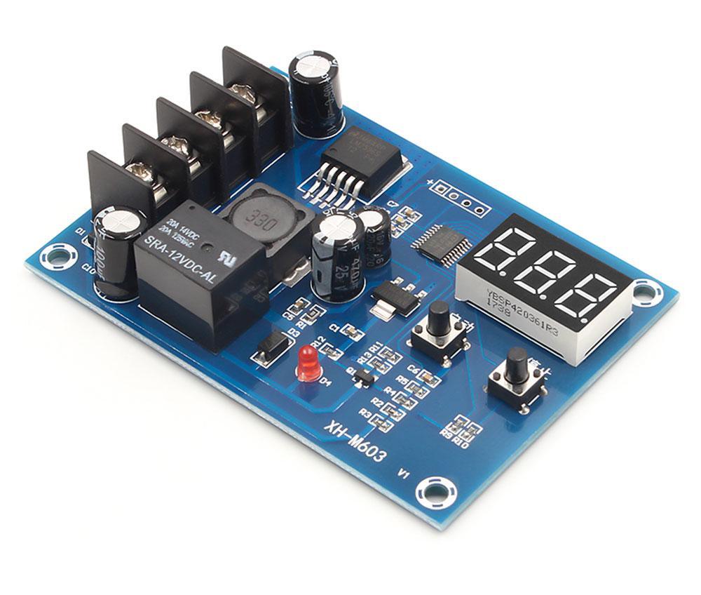 XH-M603 плата модуль керування зарядкою 12-24 В з вольтметром