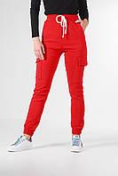 Модные женские штаны джогеры из стрейч-котона