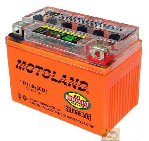 Гелевый аккумулятор на 12V/4Ah