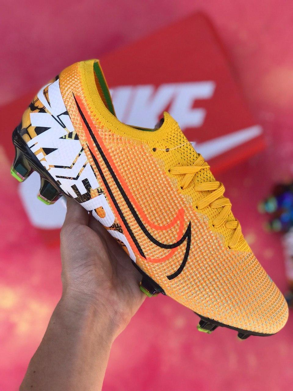 Бутсы для футбола Nike Mercurial Vapor 13 Elite FG Желтые
