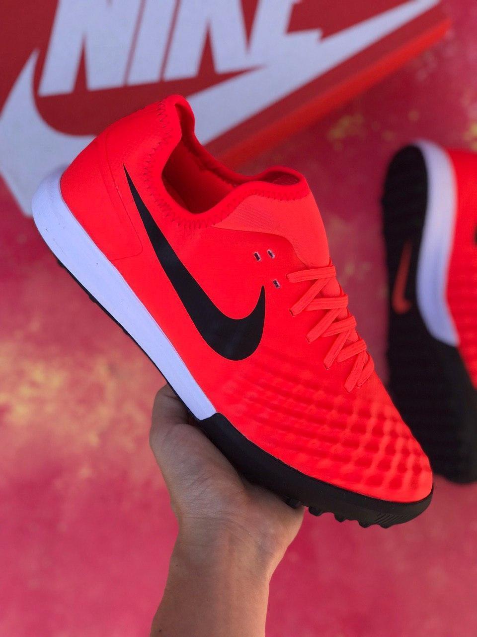 Стоноги футбольні Nike MagistaX Finale II IC Червоні