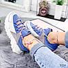 Кроссовки женские Rexty голубые эко-кожа + эко - замша +неопрен ))В НАЛИЧИИ ТОЛЬКО 39р, фото 2