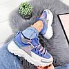 Кроссовки женские Rexty голубые эко-кожа + эко - замша +неопрен ))В НАЛИЧИИ ТОЛЬКО 39р, фото 3