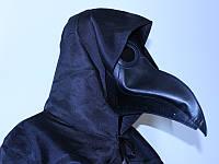 Маска Чумного доктора черная, фото 1