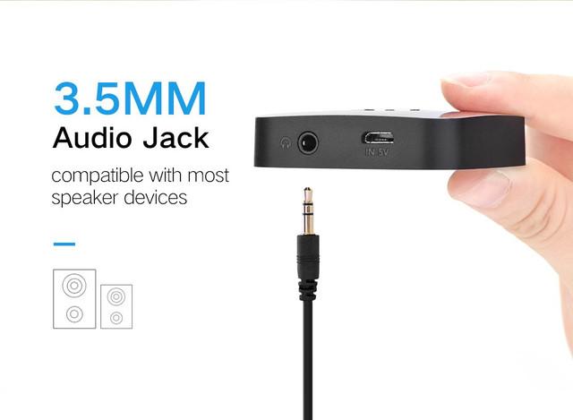 Bluetooth 4.1 беспроводной аудио приемник Ugreen для автомагнитол, колонок, муз.центров, дом.театров (без батареи)