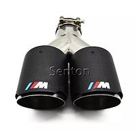 Двойные насадки на выхлоп глушители BMW ///M Performance глушитель бмв 73мм на выход трубы выхлопные